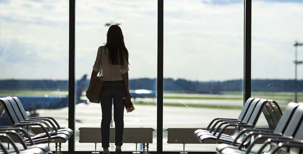 Woman afraid of flying